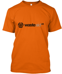 WasteAid UK Mens t-shirt orange