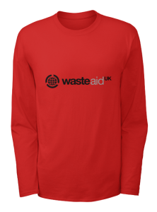 WasteAid UK Long sleeve t-shirt red