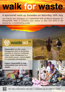 walk for waste poster