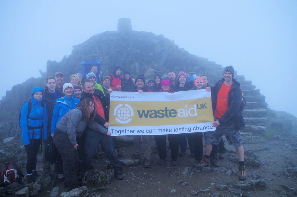 At the to of Snowdon on the Walk for Waste 2016