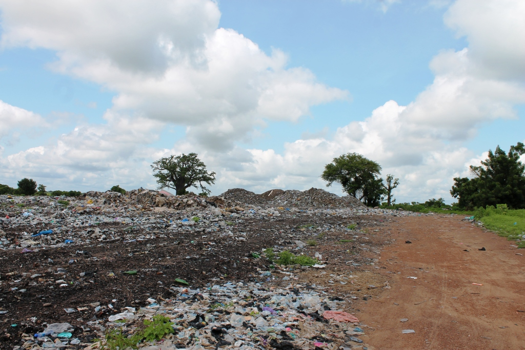 An open dump in the Navrongo-Bolgatanga district of northern Ghana