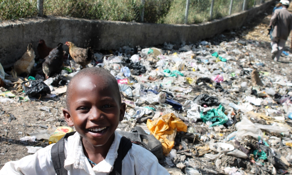 Children living in Kamere are particularly vulnerable to the impacts of unmanaged waste