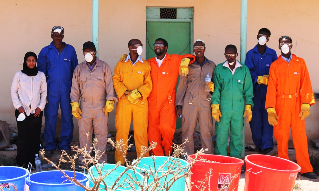 Newly trained community waste managers, Somaliland