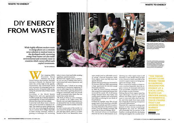 DIY Energy from Waste – WasteAid in the media