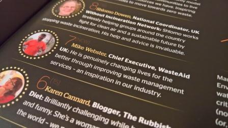 WasteAid Chief Exec voted in at Number 7 in the Resource Hot 100