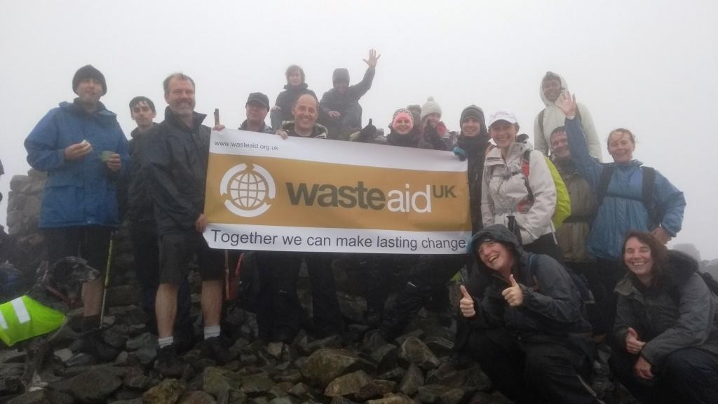 WasteAid reaches highest peak in England on Walk for Waste 2017