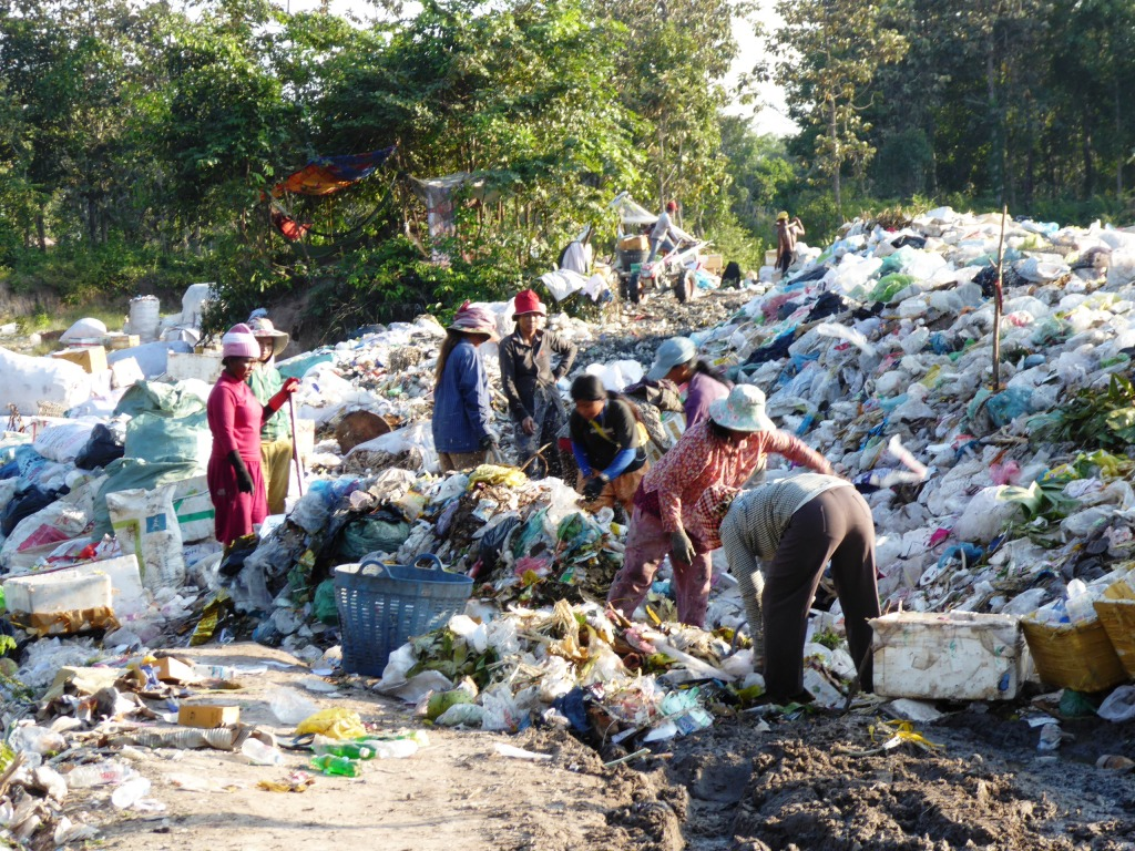 Collecting recyclable materials from dumpsites can be dangerous