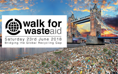 2 week countdown to the Walk for WasteAid 2018