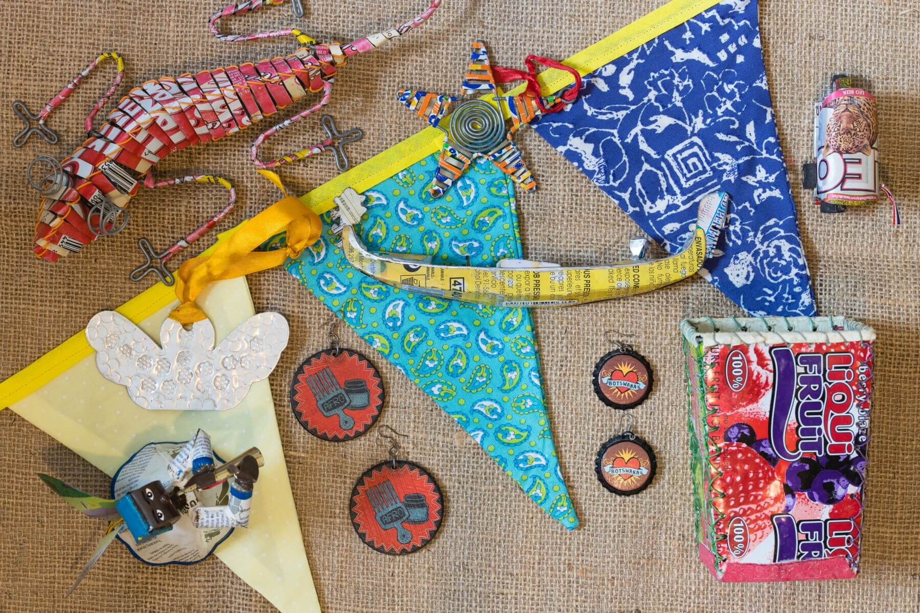 Recycled decorative gifts, by Ian Hargreaves in Botswana (3rd place)