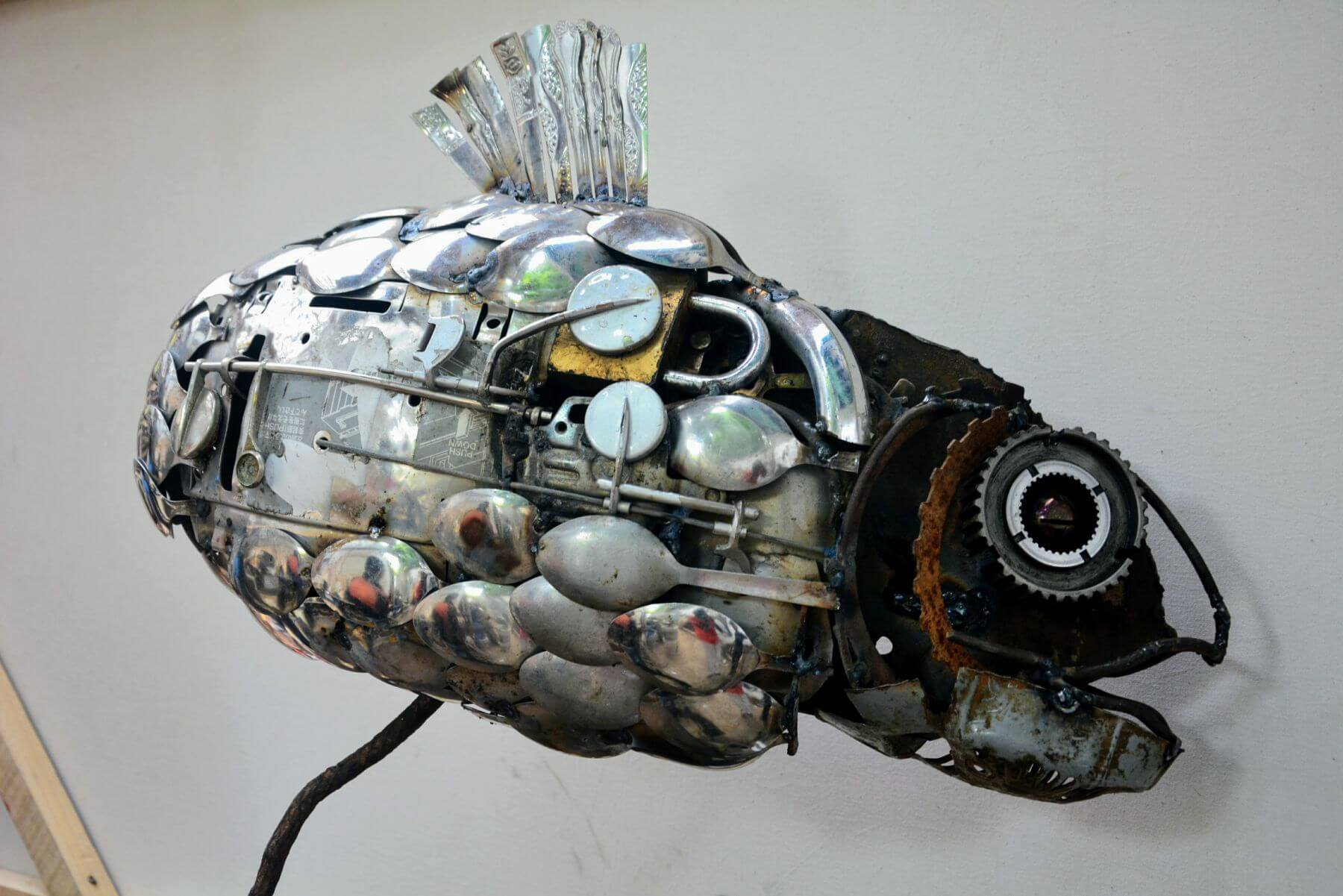 Fish of spoons, by Onche Ugbabe in Abujua, Nigeria