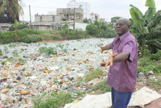 The plastic waste keeps flowing from upriver to the coast