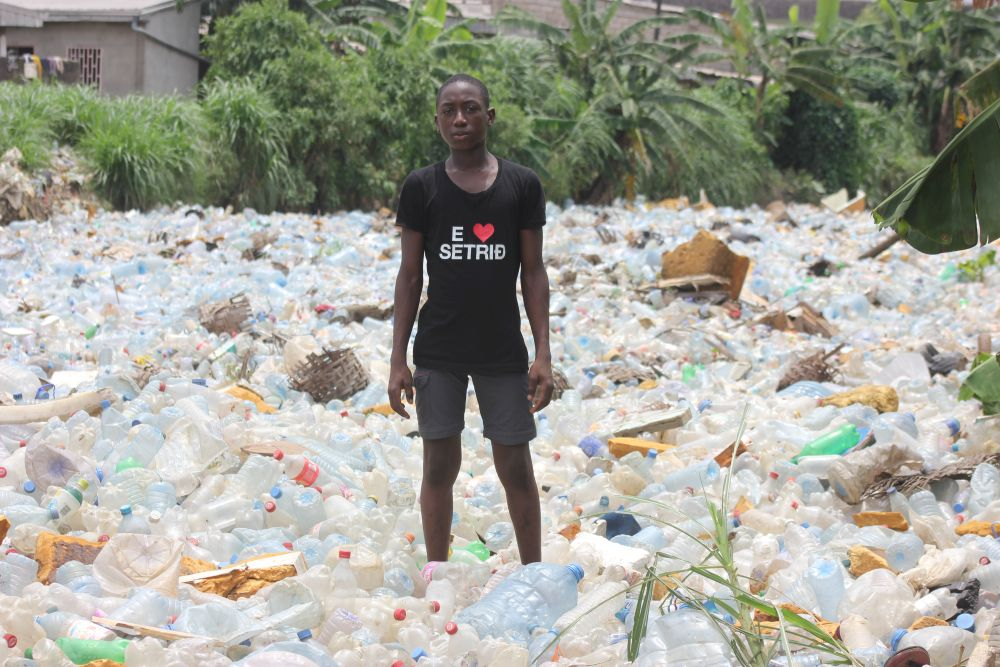 Plastic pollution in Douala, Cameroon