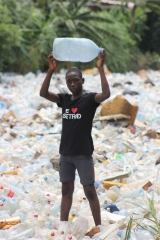 Plastic pollution will affect generations to come in Douala, Cameroon