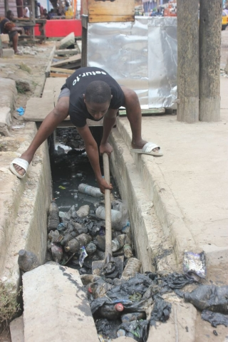Plastic blocks drains, causing flooding and the spread of waterborne diseases like Cholera, and mosquito-borne diseases like Malaria