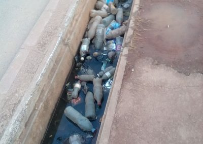 Plastic waste blocking drainage channels, Yaoundé, Cameroon (Franklin Nchanji)