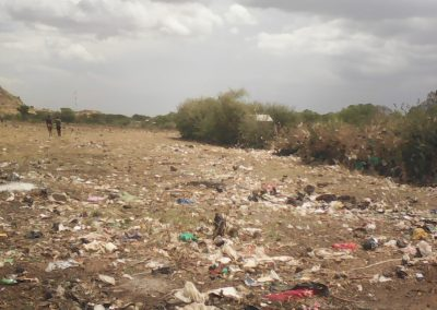 Waste litters the landscape in Moroto, Uganda (Kakuru Gyaviira)