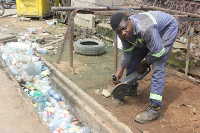 Plastic waste blocks drainage channels, leading to flooding and the spread of disease