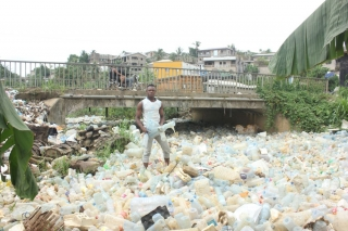 Plastic waste builds up in villages and coastal cities