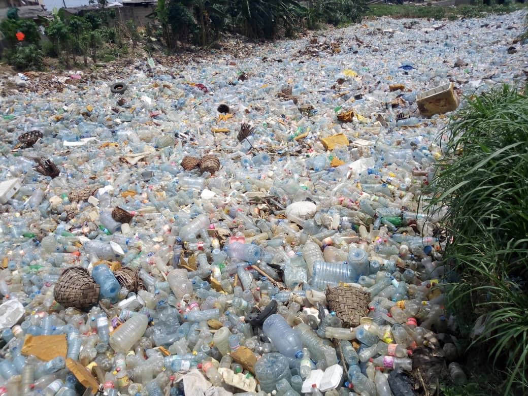 River of plastic, Douala, Cameroon
