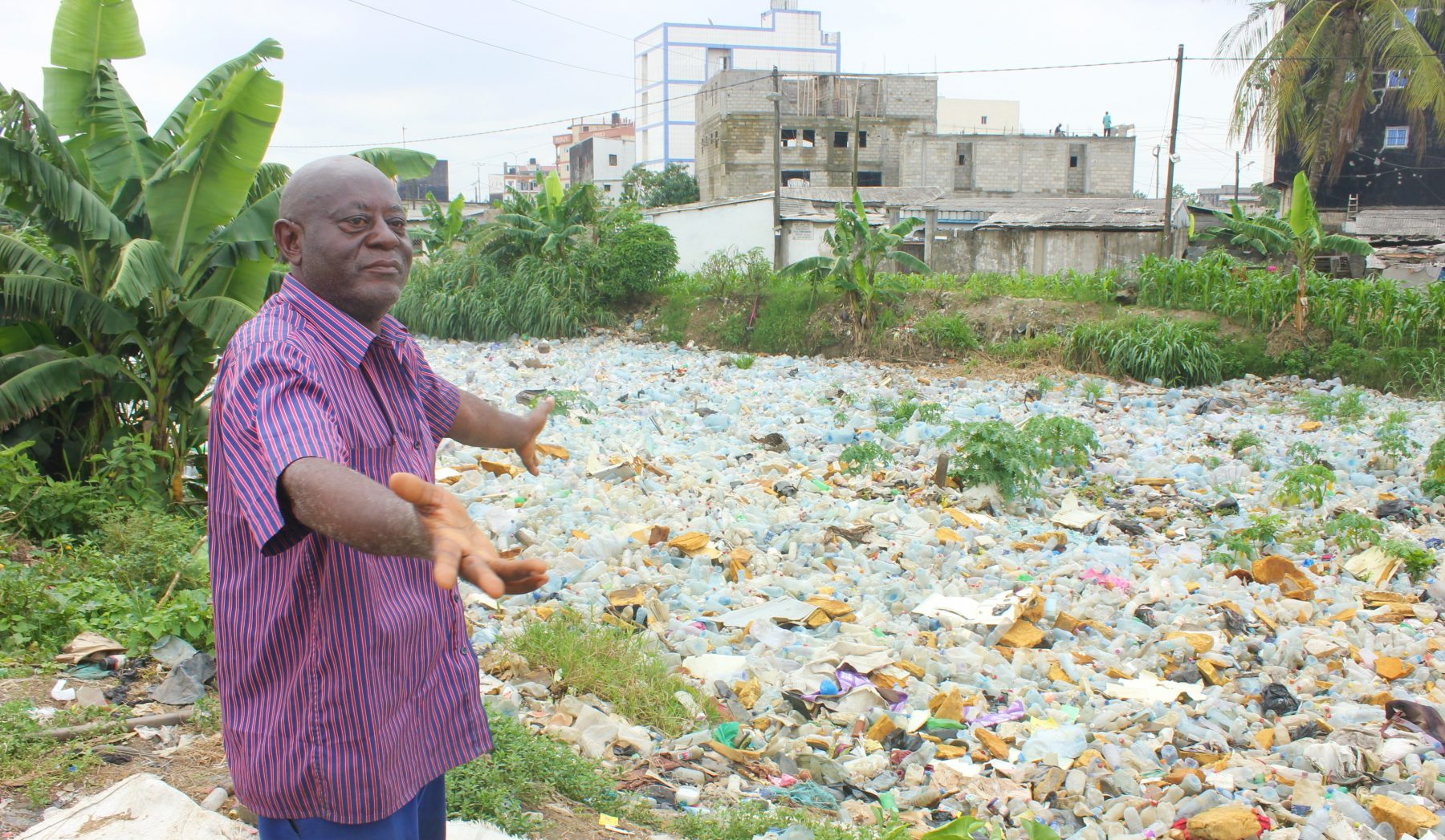 River of plastic in Douala Cameroon