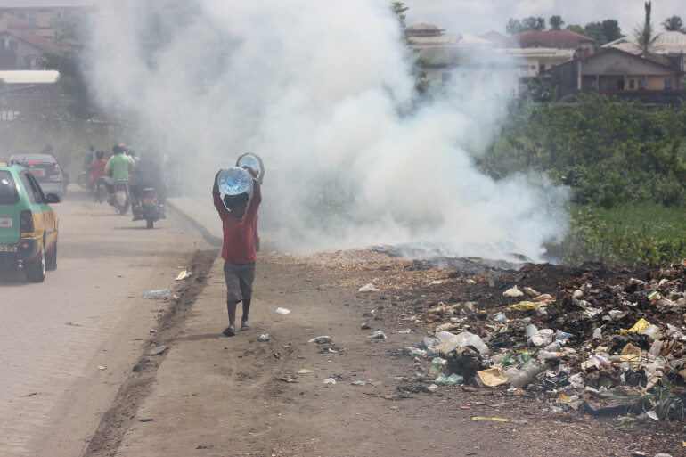Open burning of plastic waste results in dangerous air pollution and contributes to climate change.