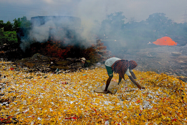 Recycling leather waste in India by Ashim Kumar Mukhopadhyay