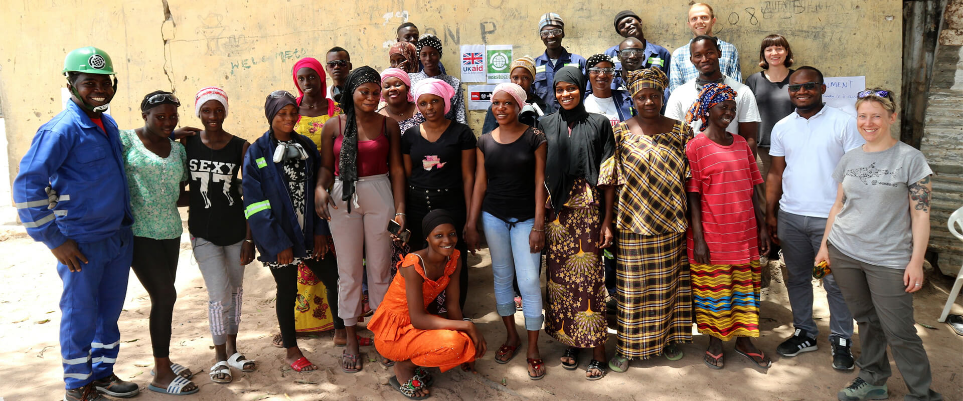 WasteAid team in the Gambia