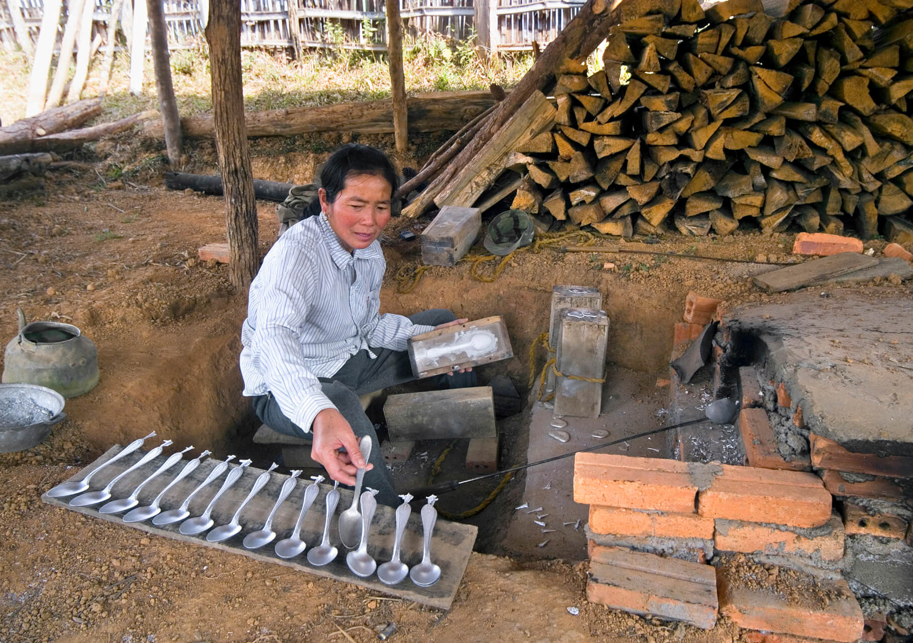 """Make Spoons/Bracelets, not War,"" in Laos, by Chinch Gryniewicz"
