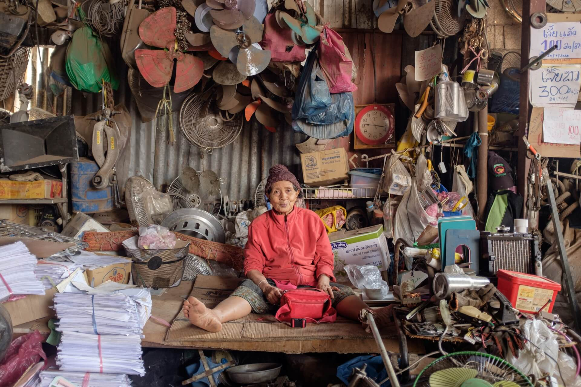Recycling broker in Vientane, Laos, by Nicholas Bosoni