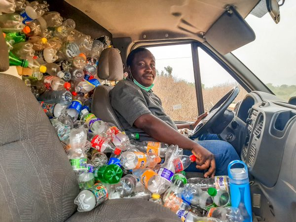Riding with waste as a resource by Victor Amusa in Ilorin, Nigeria