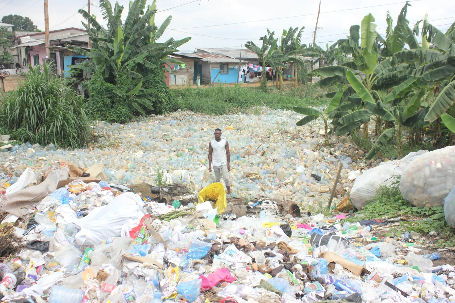 River of plastic in Douala, Cameroon
