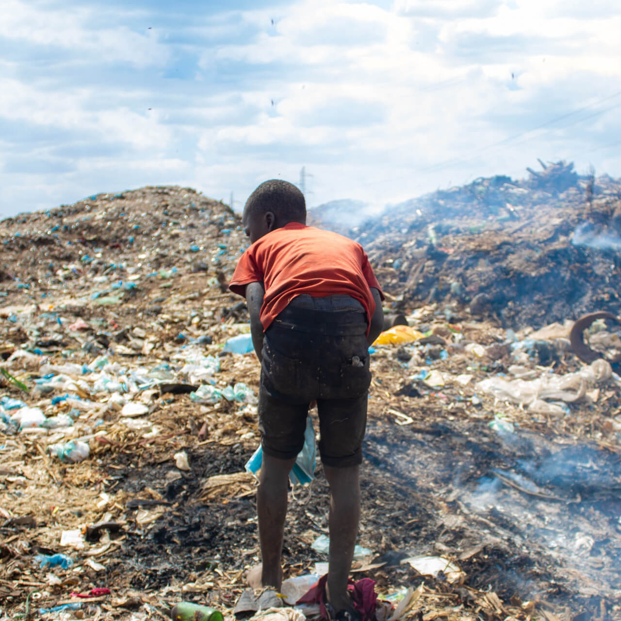 Minors scavenging from dumpsites in Malawi have no protection