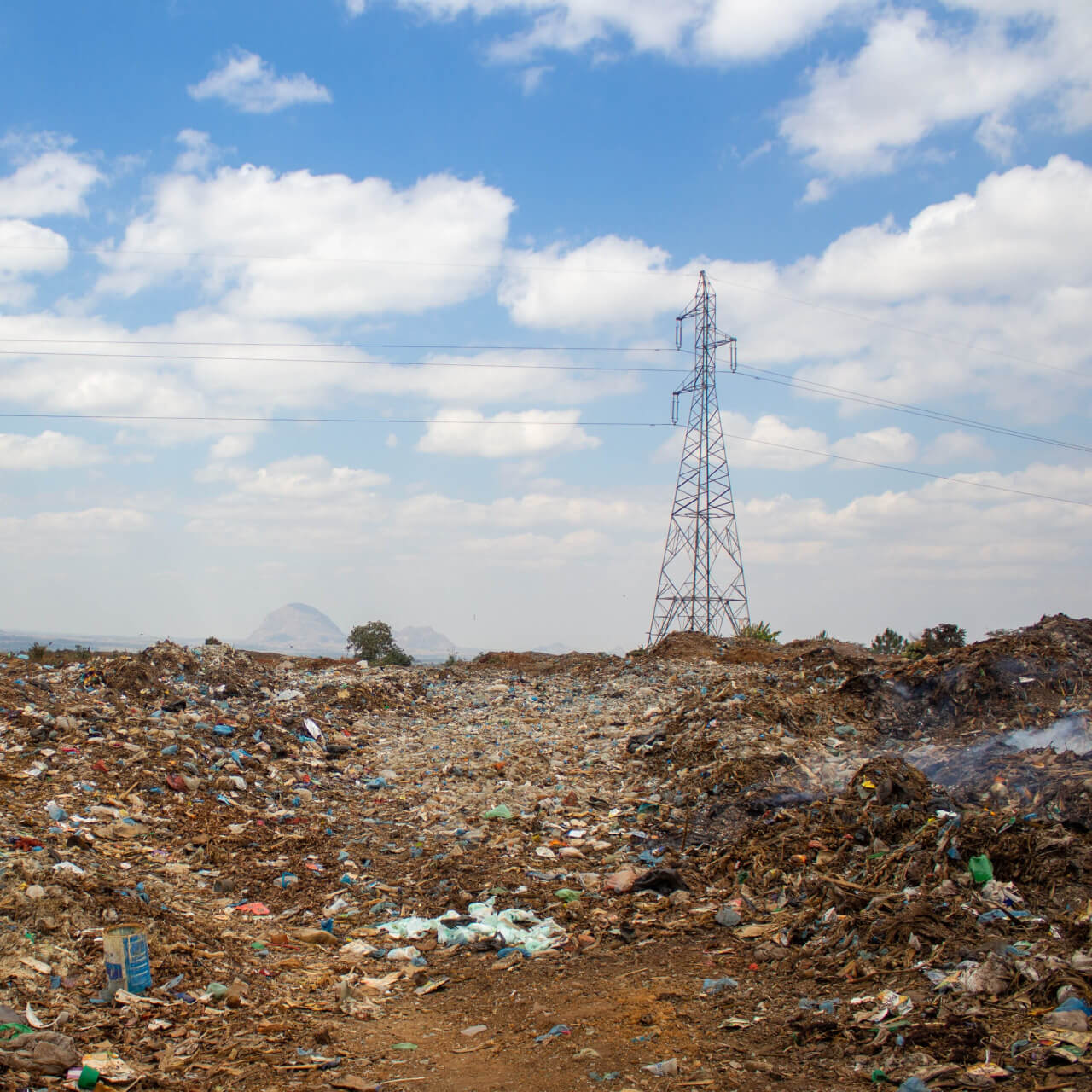 Without management, waste accumulates  and impacts on national infrastructure