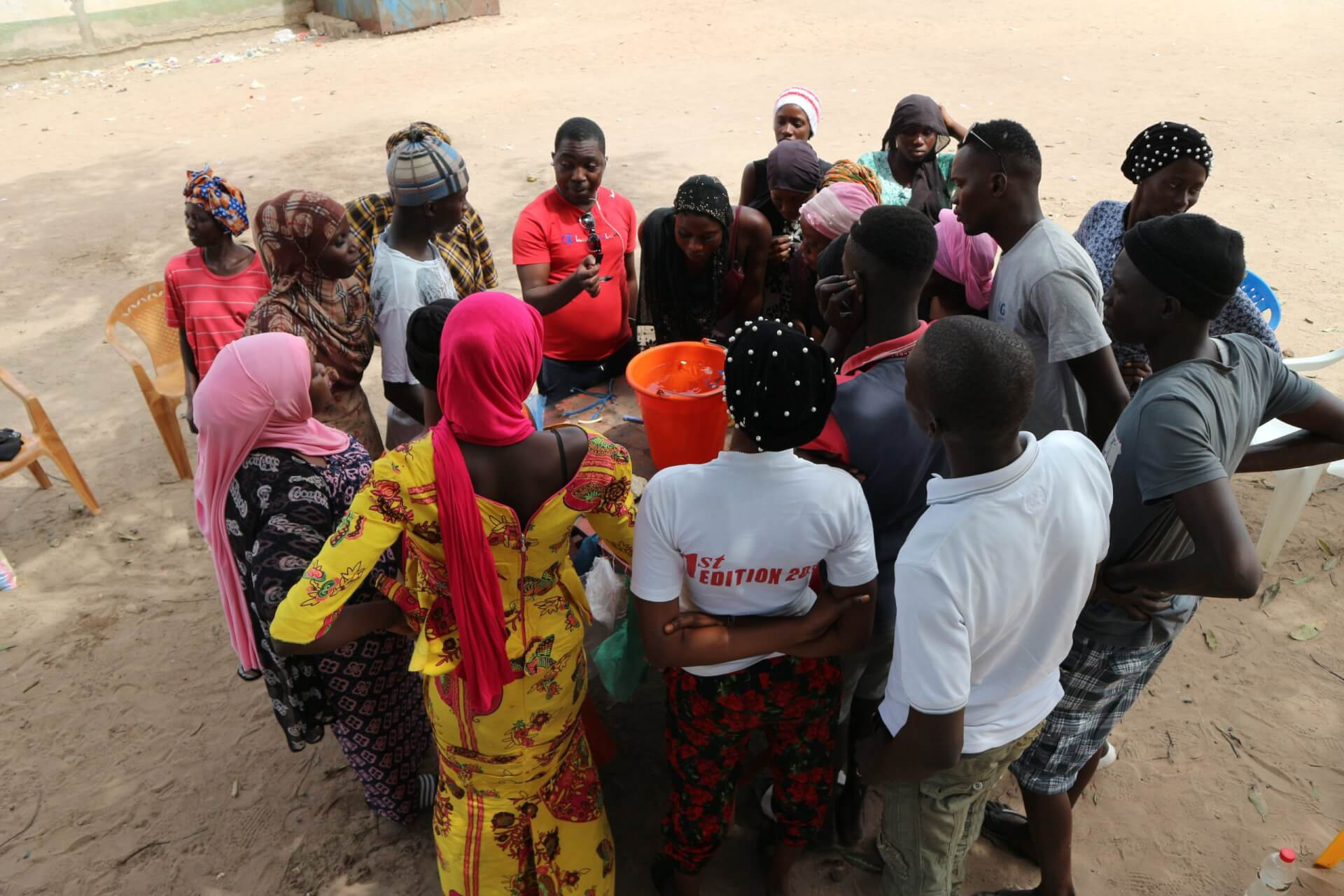 WasteAid plastic recycling training in Gunjur The Gambia