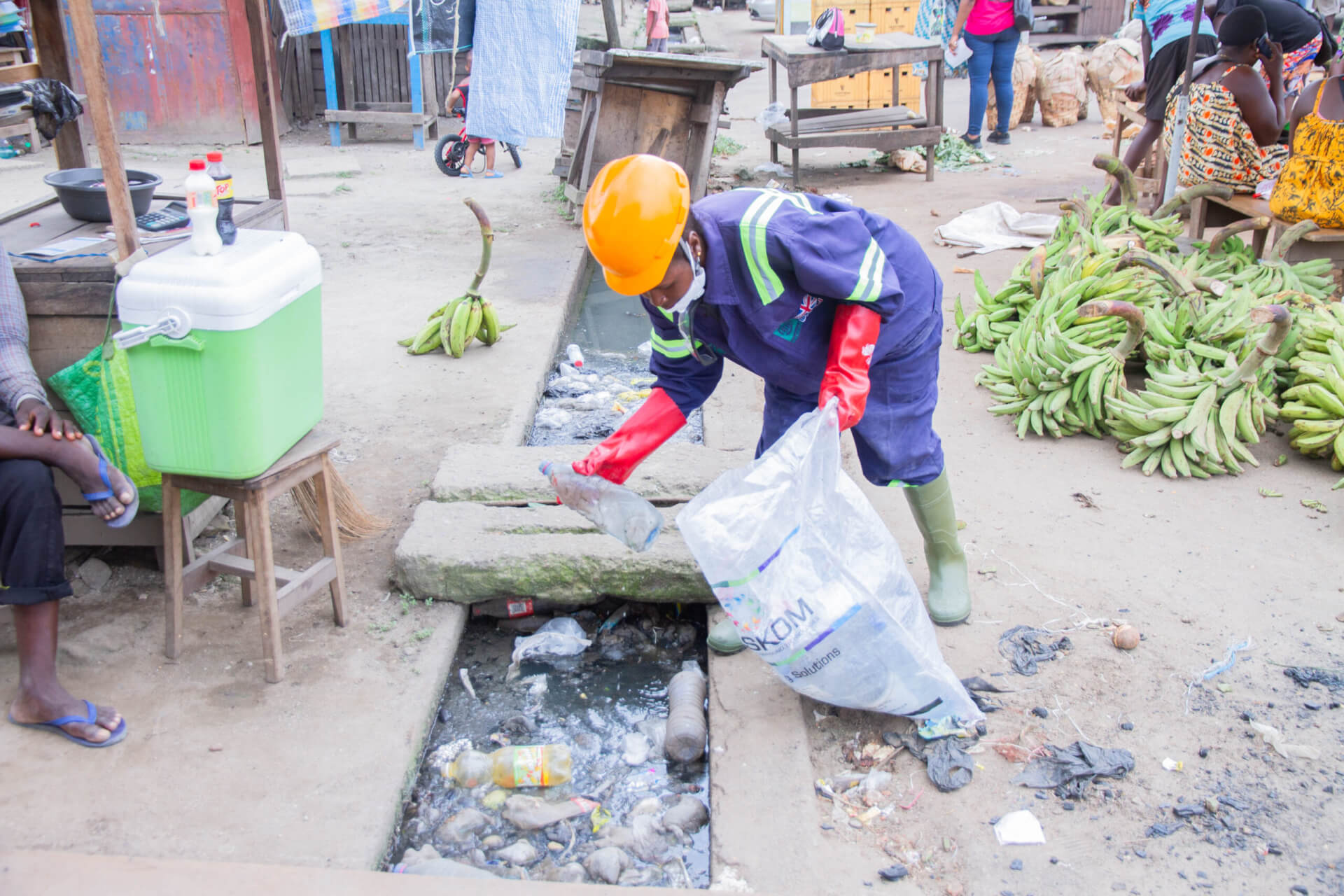 Blocked drains attract mosquitoes and flies that spread disease
